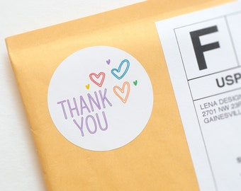 Thank You Sticker - Rainbow Thank You - Packaging Supplies - Consultant Stickers - Small Business Stickers - Product Packaging Labels