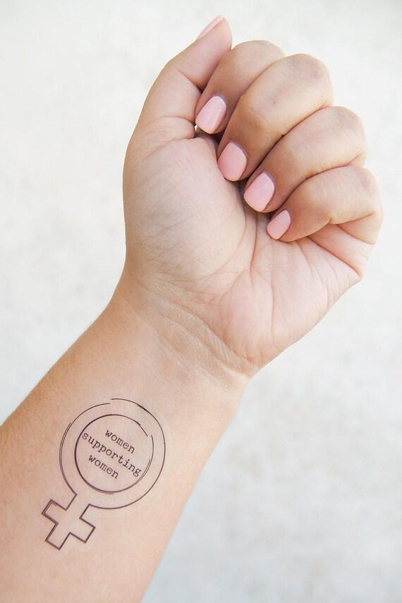 Women Supporting Women Tattoo Temporary Tattoos Feminist Etsy
