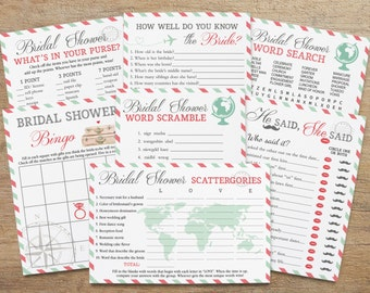 travel bridal games games for bridal shower game pack traveling theme airplane world shower fun activity bundle pt instant download