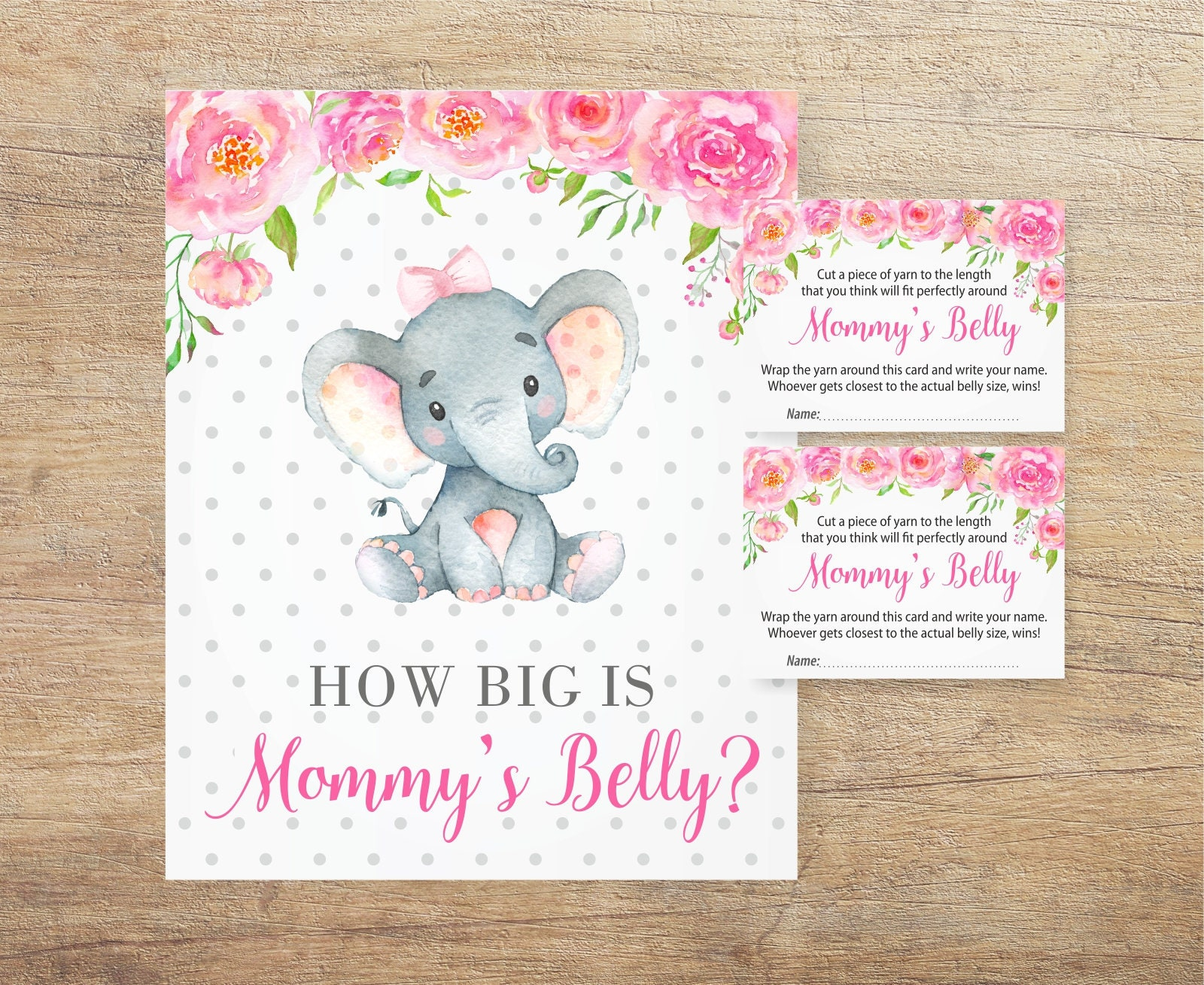 How Big Is Mommys Belly Sign Elephant Guess Mummy Belly Etsy