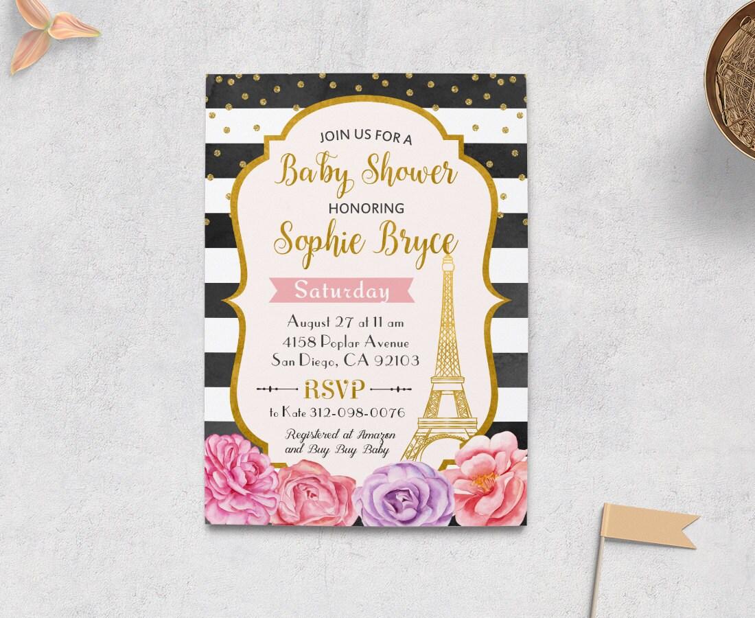 de38e75f1089 Paris Baby Shower Invitation Paris Invitation Paris Invites