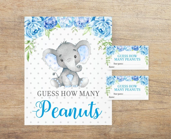 Guess How Many Peanuts Game Little Peanut Baby Shower Boy Etsy