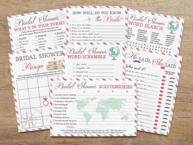 da69efd13bfb Travel Bridal Games Games for Bridal Shower Game Pack