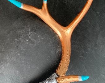 Hand Painted Deer Antler