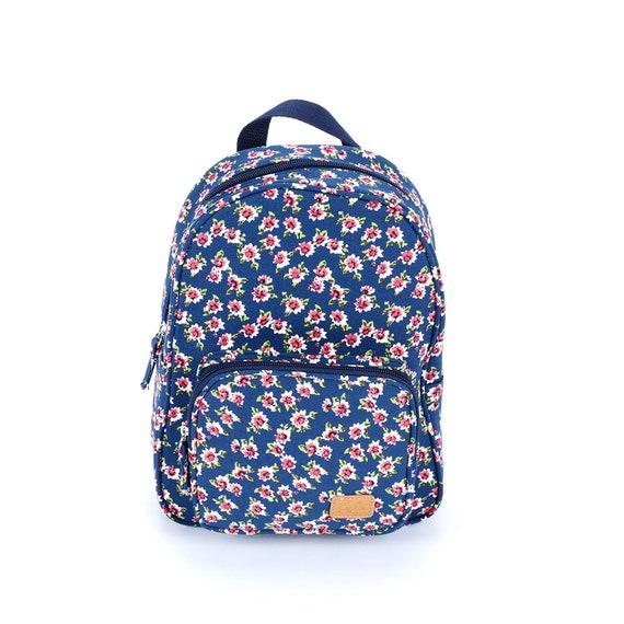 Girls Mini Backpack Vintage Floral Navy  d18df8dcf04c2