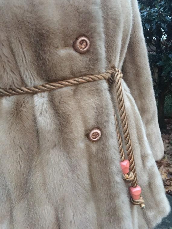 Vintage 70s Faux Fur Coat