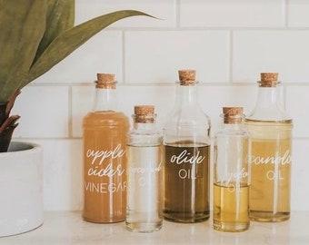 Custom Oil + Vinegar Bottles - Small