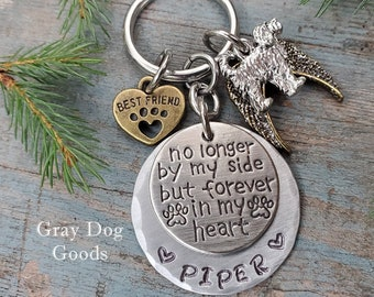 Doodle Memorial Key Chain, Doodle Remembrance Gift, Loss of Dog, Doodle Sympathy Gift, Fur Baby, Rainbow Bridge