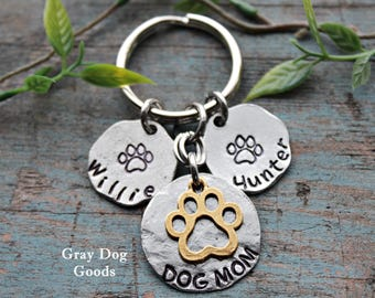 Dog Mom Key Chain, Personalized Dog Keychain, Gift for Dog Lover, New Dog Gift