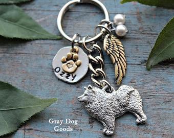 Samoyed Memorial Key Chain, Pet Memorial Key Chain, Samoyed Key Chain, Samoyed Sympathy Gift, Read Full Listing Details