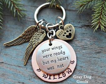 Pet Memorial Key Chain, Pet Remembrance Gift, Dog or Cat, Pet Sympathy, Loss of Dog, Loss of Cat, Cat Memorial, Dog Memorial