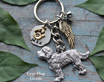 ce2f6a35d Labradoodle Memorial KeyChain, Pet Memorial KeyChain, Doodle KeyChain, Dog  Sympathy Gift, Read Full Listing Details