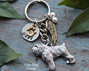 Bouvier Memorial Key Chain, Pet Memorial Key Chain, Bouvier KeyChain, Bouvier Sympathy Gift, Read Full Listing Details