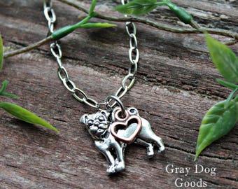 Pug Necklace, Pug Jewelry