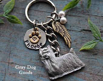 Yorkie Memorial Key Chain, Pet Memorial Key Chain, Yorkie Key Chain, Dog Sympathy Gift, Read Full Listing Details