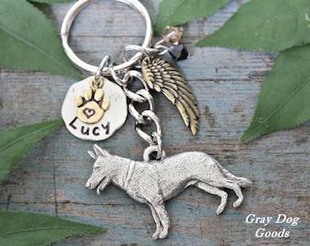 German Shepherd Memorial KeyChain, Pet Memorial KeyChain, GSD Key Chain, German Shepherd Sympathy Gift, Read Full Listing Details