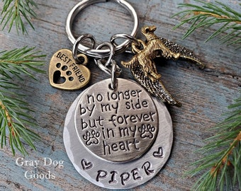 Golden Retriever Memorial Key Chain, Golden Retriever Remembrance Gift, Loss of Dog, Retriever Sympathy Gift, Fur Baby, Rainbow Bridge