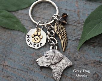 Labrador Memorial KeyChain, Pet Memorial KeyChain, Lab KeyChain, Lab Sympathy Gift, Read Full Listing Details