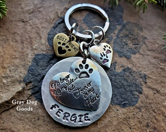 Pet Memorial Key Chain, Pet Remembrance Gift, Loss of Dog, Loss of Cat, Cat Sympathy Gift, Dog Sympathy Gift, Best Friend