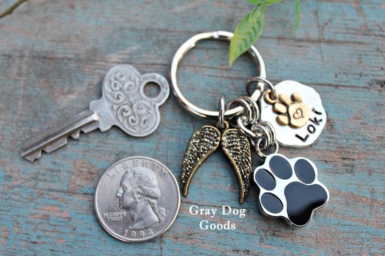 Rainbow Bridge Personalized Dog Key Chain Pet Sympathy Jewelry Pet Sympathy Loss of pet Pet Cremation Urn Key Chain Dog Cat Ashes