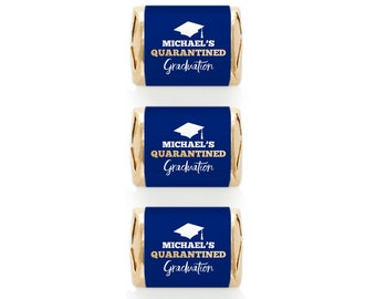 30 Quarantine Graduation Nugget Labels Shelter in Place Drive By Party Favors