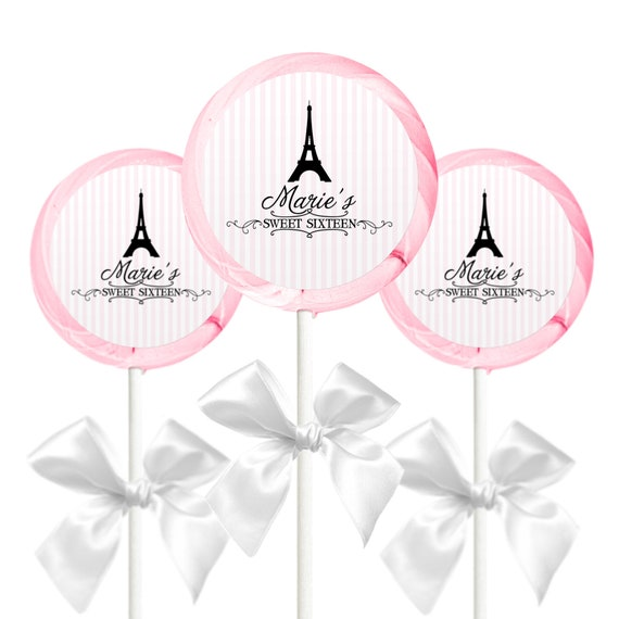 Theme Personalized Kisses Labels or other? 108 Eiffel Tower Paris Birthday