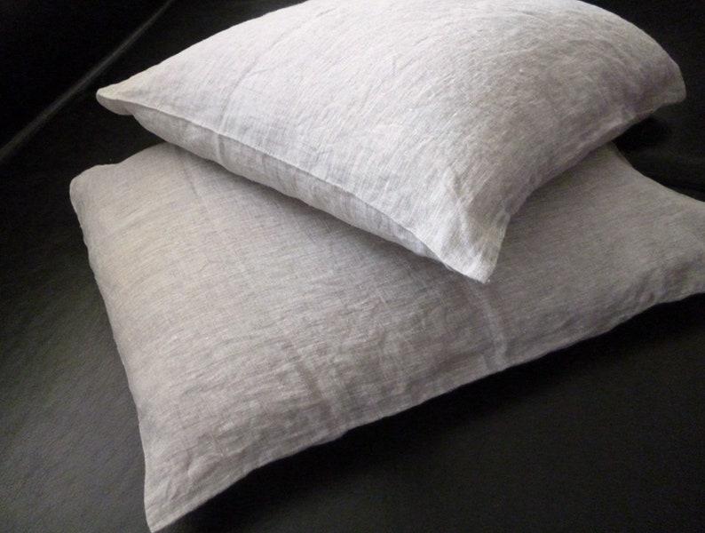 Leinen Kissenbezug Grau Leinen Bettwäsche Natürliche Etsy