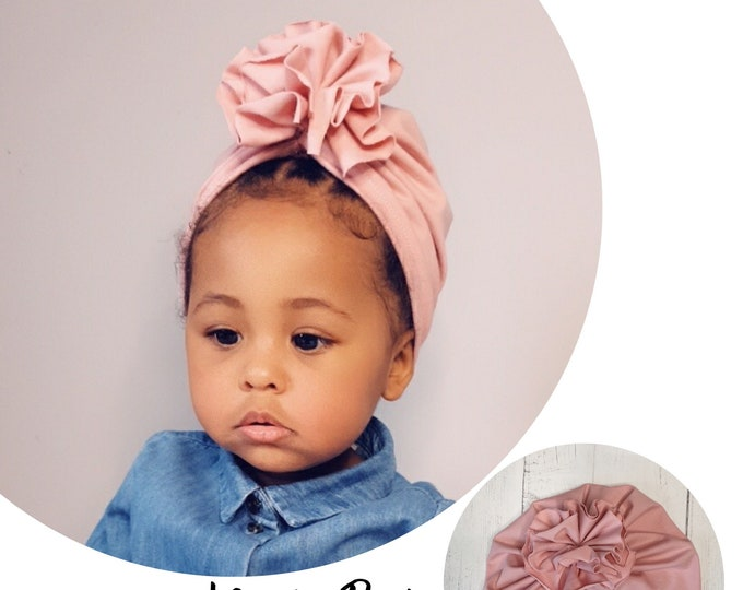Featured listing image: Dusty Pink Baby / Children's Turban - choose your style