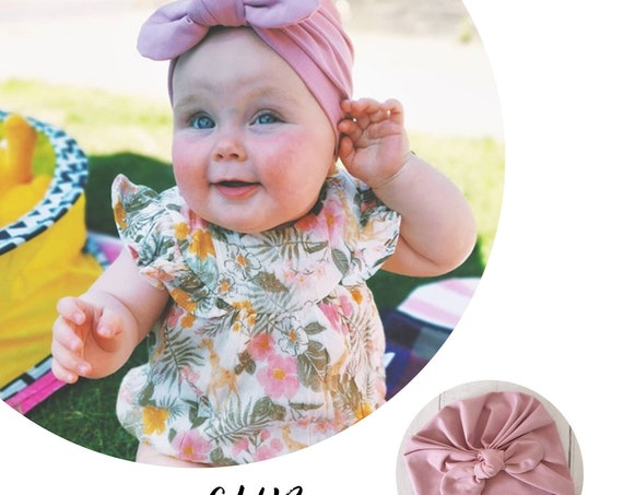 Baby Turban / Baby Hat / Girls Turbans / Kids Turbans - Old Rose - choose your style - Baby Shower Gift - Newborn Gift