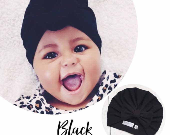 Featured listing image: Black Baby Turban - choose your style