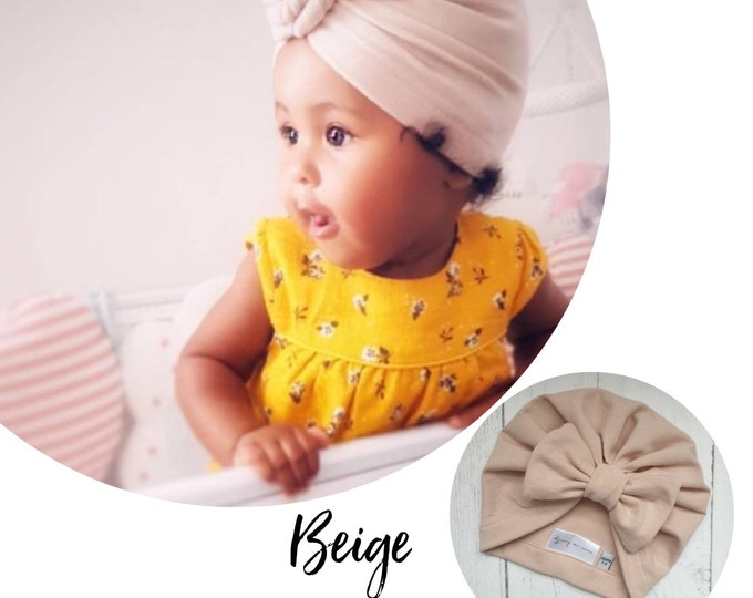 Featured listing image: Beige Baby Turban - choose your style