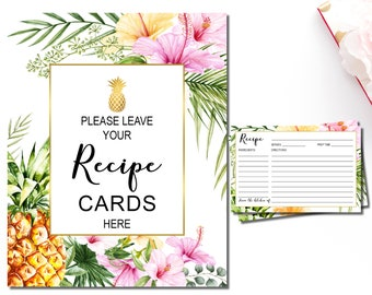 Tropical recipes | Etsy