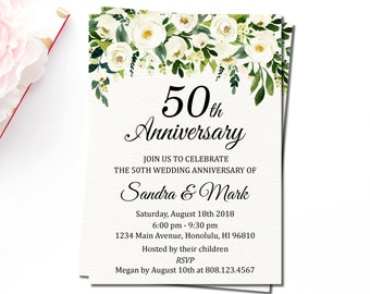 anniversary invitations etsy