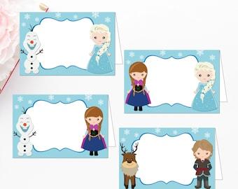 image relating to Frozen Printable Labels named Frozen foodstuff labels Etsy