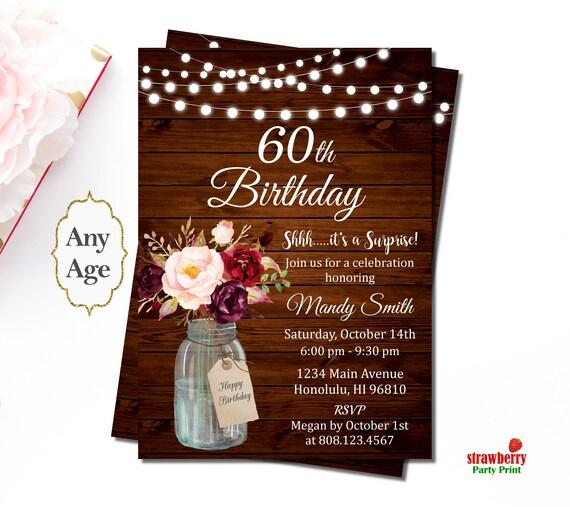60th Birthday Invitations For Women Invitation