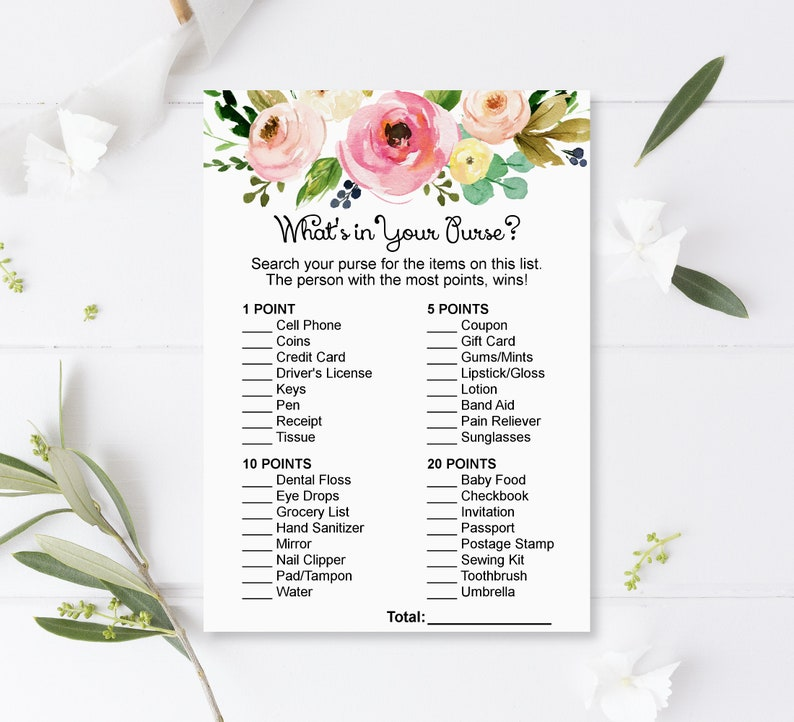 Pink Floral Baby Shower Games Package Girl Baby Shower Games Printable Baby Shower Game Bundle Instant Download C37