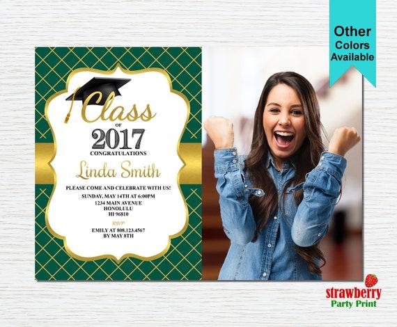 graduation party invitation graduation invitation 2017 grad etsy