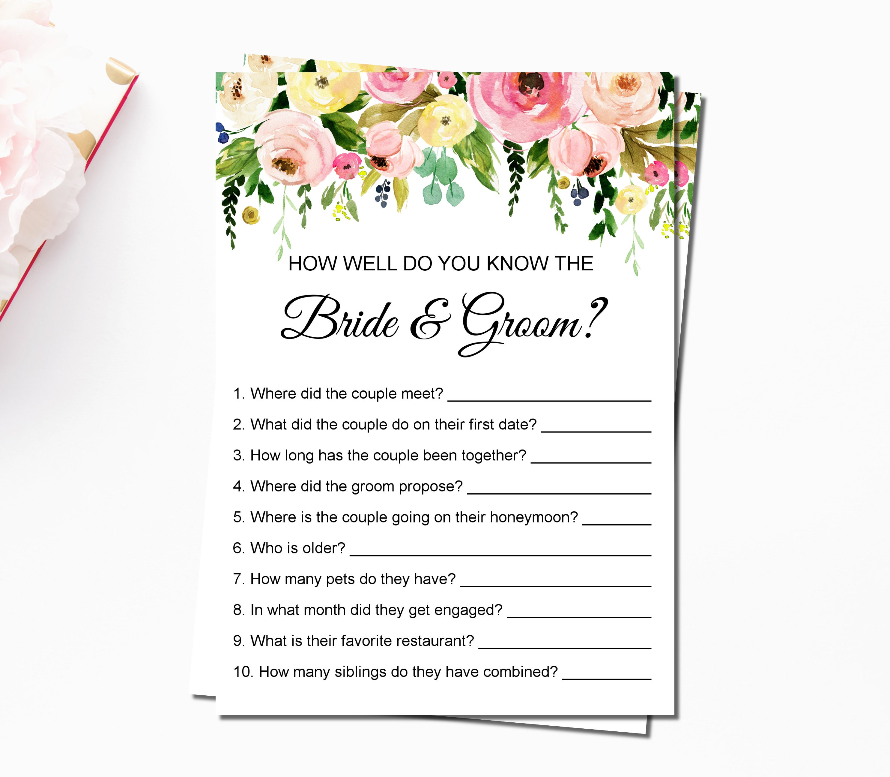 How Well Do You Know The Bride & Groom Floral Spring