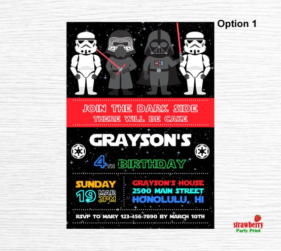 Star Wars Invitation Birthday Image