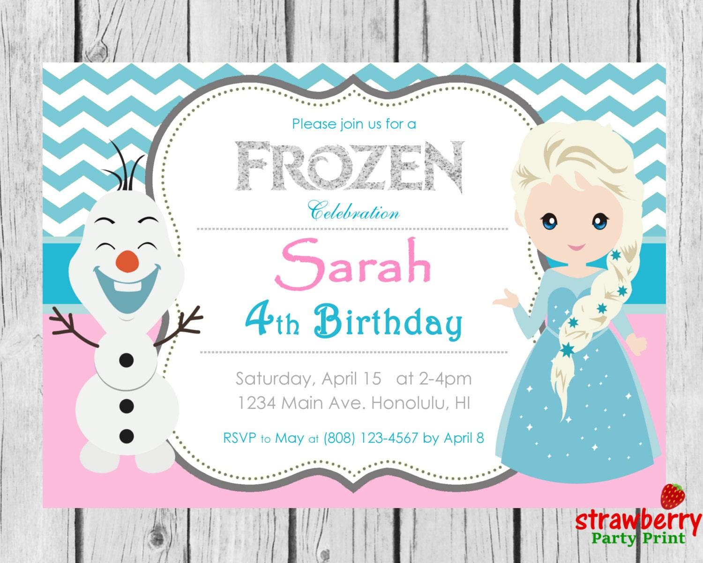 Frozen Birthday Invitation Frozen Invitation Disney Frozen | Etsy