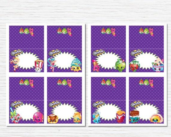 photo about Free Printable Shopkins Food Labels called Shopkins Food stuff Labels, Editable Tent Playing cards, Room Playing cards, Shopkins Occasion Printable, Shopkins Birthday Occasion Decorations