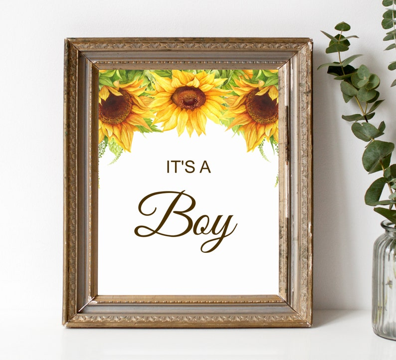 Printable Welcome Sign Gender Reveal Baby Shower Burgundy Blue Gold Floral