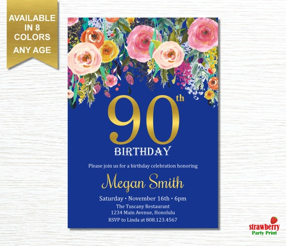 90th birthday invitations for women 90th birthday party etsy image 0 filmwisefo