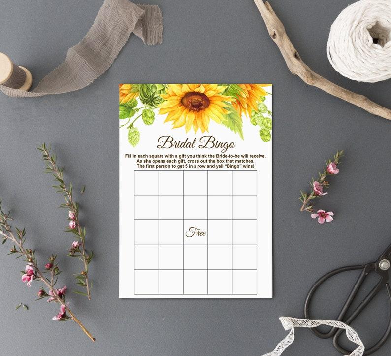 Yellow Floral Sunflower Bridal Shower Games Printable Instant Download B79 Rustic Bridal Shower Games Bundle