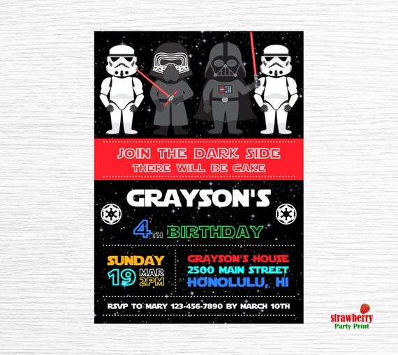 photo about Star Wars Invitations Printable identified as Star wars Invitation, Star Wars Birthday Invitation, Star Wars Bash Invitation, Starwars Occasion Printable, Occasion Printable
