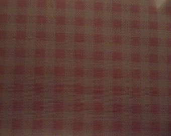 Dots & Plaids Pink Check 100% Cotton Fabric #347