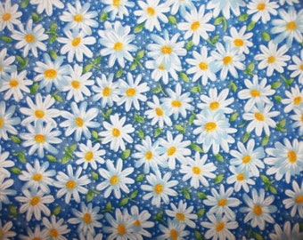 Shasta Daisies 100% Cotton Fabric CUB #8