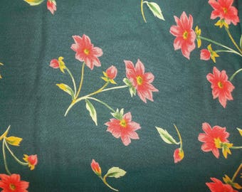 Coral Blooms Voile Fabric #338