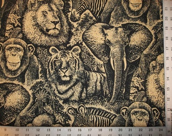 All Over Animals 100% Cotton Fabric CR #8