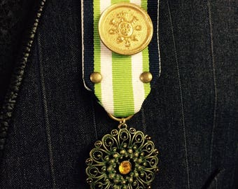 Steampunk Military Lazer Medal